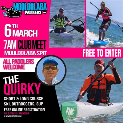 The QUIRKY this Saturday 7am at Mooloolaba Spit