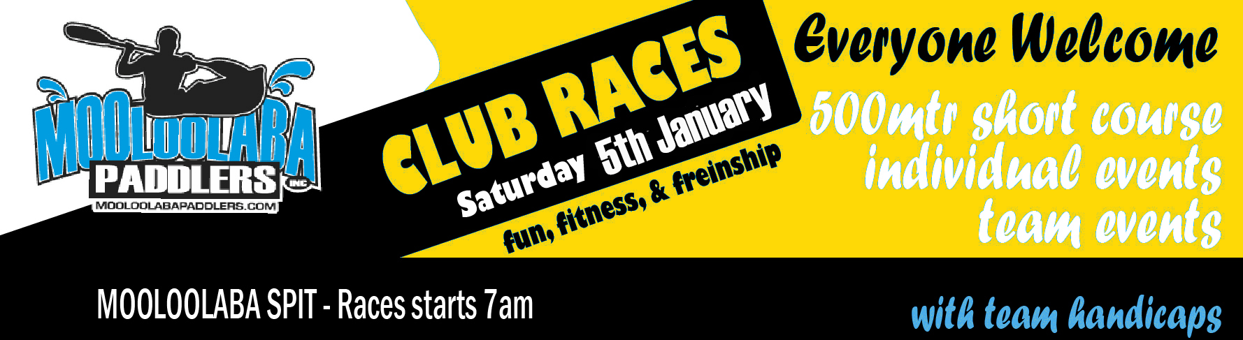 Club Meet 5 Jan- Races around the cans